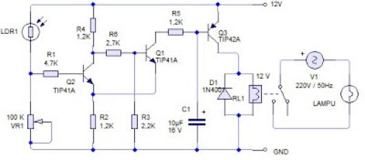 Membuat Lampu Penerangan Jalan Umum Otomatis Untuk Rumah Caratekno
